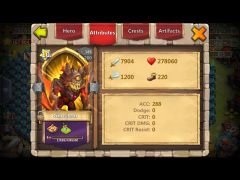 Double Evolving Ghoulem Using Him In Battle Insane Damage/Heals Castle Clash
