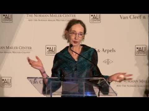 Joyce Carol Oates Accepts Lifetime Achievement Prize