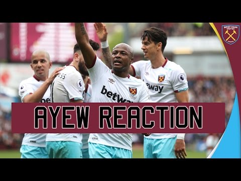 BURNLEY 1-2 WEST HAM: ANDRÉ AYEW on GOAL & WIN