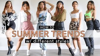 HOW TO: Summer Trends For Different Styles | 25 Summer Outfit Ideas!