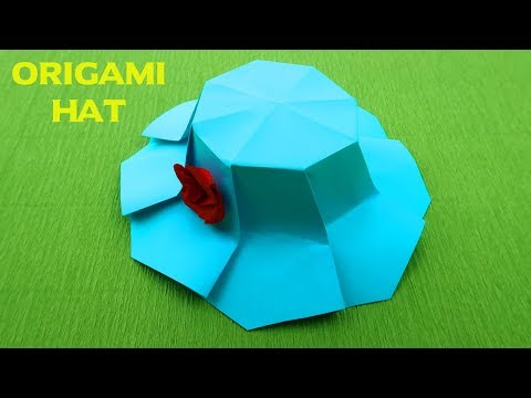How to make a paper Hat ? Origami Hat | DIY Paper Hat | Hat for Dolls | Lady Hat