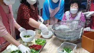 동해시 금곡목간 금곡마늘밥상의 새우장만들기.