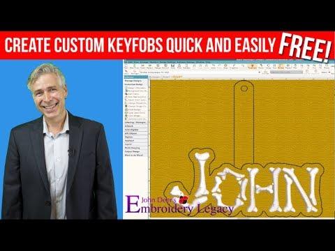 How to Create Custom Embroidery Key-Fob Tutorial!