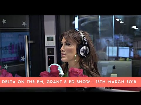 Delta Goodrem on The Em, Grant & Ed Show - 15th March 2018 (Video)