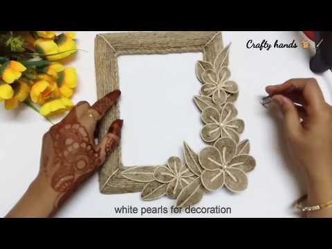 DIY photo frame/jute craft ideas by Crafty hands