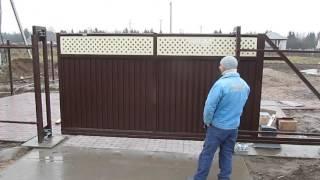 видео откатные ворота спб