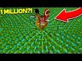 3 YouTubers vs 1 MILLION Zombies in Minecraft