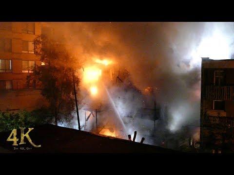 Montreal: Major 5th alarm apartment blaze / Feu 5e alarme à Côte-des-Neiges 10-1-2017
