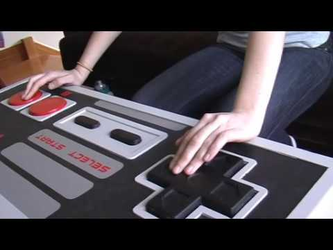 giant nes controller coffee table - youtube