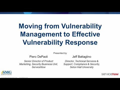 Moving from Vulnerability Management to Effective Vulnerability Response