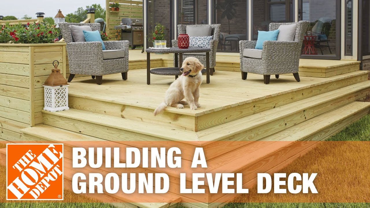 How to Build a Ground Level Deck How