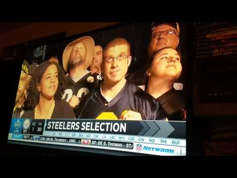 Pittsburgh Steelers 1st Round Draft Pick (TJ Watt) / Dan Rooney Tribute