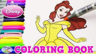 Disney Coloring Book Beauty & The Beast Princess Belle Episode Surprise Egg and Toy Collector SETC