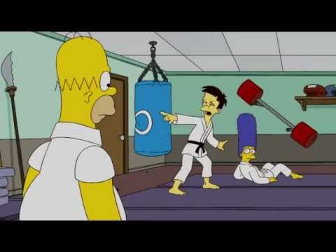 Homer Simpson Jujitsu