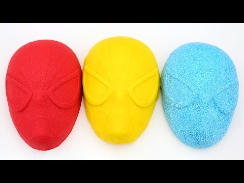 Thumbnail: Kinetic Sand VS Kinetic Foam VS Play Doh SpiderMan Mask DIY SuperHeroes Mighty Toys