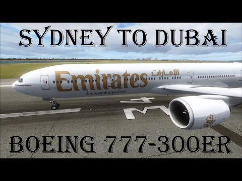FSX | Emirates Sydney (YSSY) to Dubai (OMDB) | 777-300ER