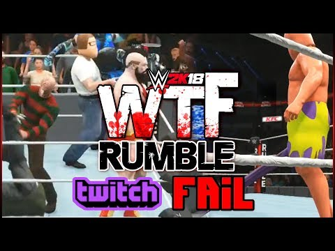 WWE 2K18: twitch Cant Handle A WTF RUMBLE!!
