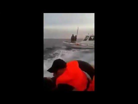 Turkish Coast Guard Attacks Refugee Boat!