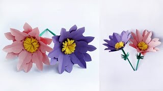 DIY Easy Paper Flowers || Handmade craft ideas || Making Paper Flowers step by step/ERS Crafts