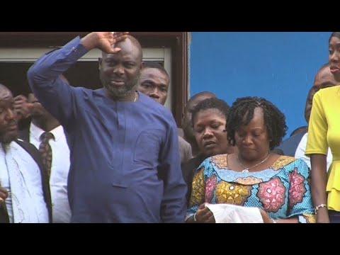 Tearful George Weah wins Liberian election