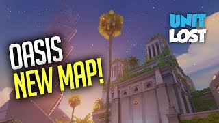 Overwatch Oasis Gameplay - NEW OASIS CONTROL MAP - CARS AND JUMP PADS!