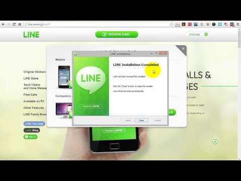 มาลองเล่น LINE บนคอมพิวเตอร์ PC กัน