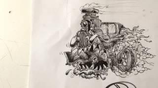 Ratfink-style speed drawing