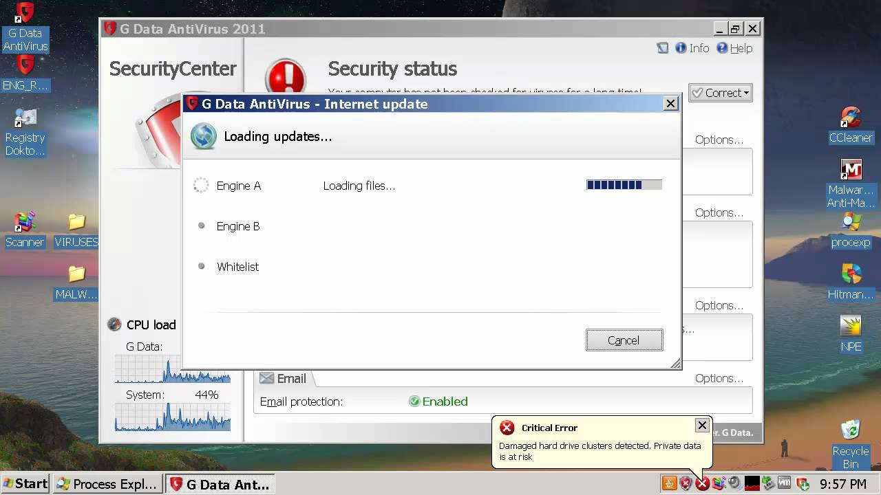 G Data Antivirus 2011 virus removal test - YouTube