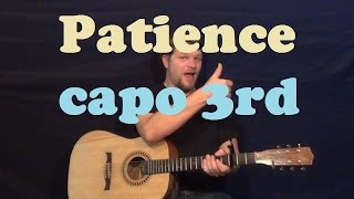 Patience (Abandoning Sunday) Easy Strum Guitar Lesson How to Play Tutorial Capo 3rd