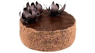 """Шоколадный """"Наполеон"""" -  тонкие слоеные коржи и шоколадный крем пломбир."""