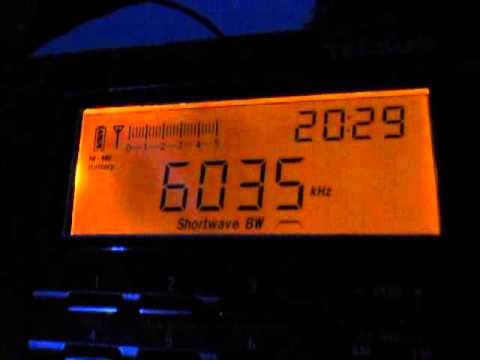 6035 Khz, Voice of America, signing on with the yankee doodle