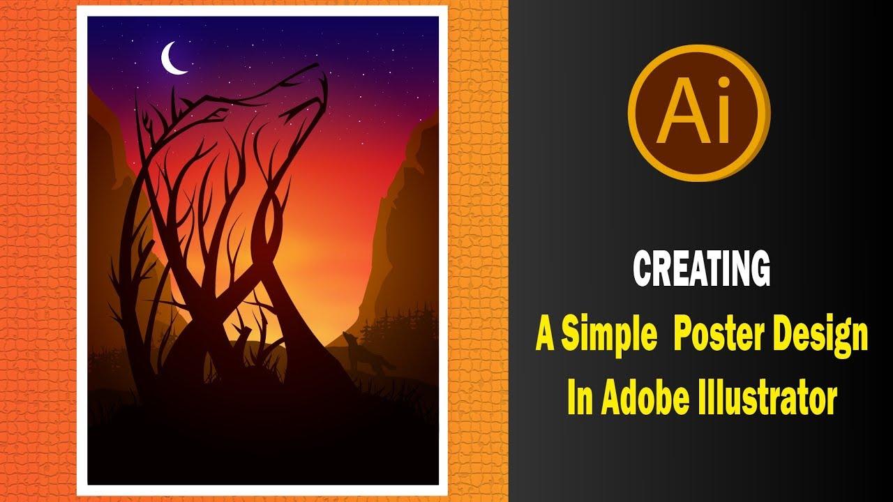 Poster design adobe illustrator - Creating A Simple Poster Design In Adobe Illustrator