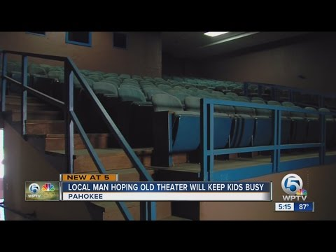 Pahokee man works to give kids place to go; Hikeem Banks says old theater can change lives