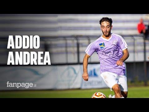 Distanziamento sociale al funerale di Andrea Rinaldi, calciatore morto a 19 anni