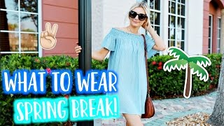 What to Wear on SPRING BREAK! Lookbook Outfit Diary! | Aspyn Ovard