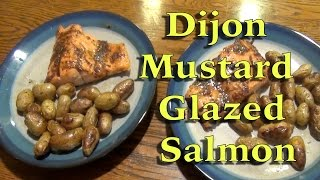 Dijon Mustard Glazed Salmon With A Side Of Fingerling Potatoes