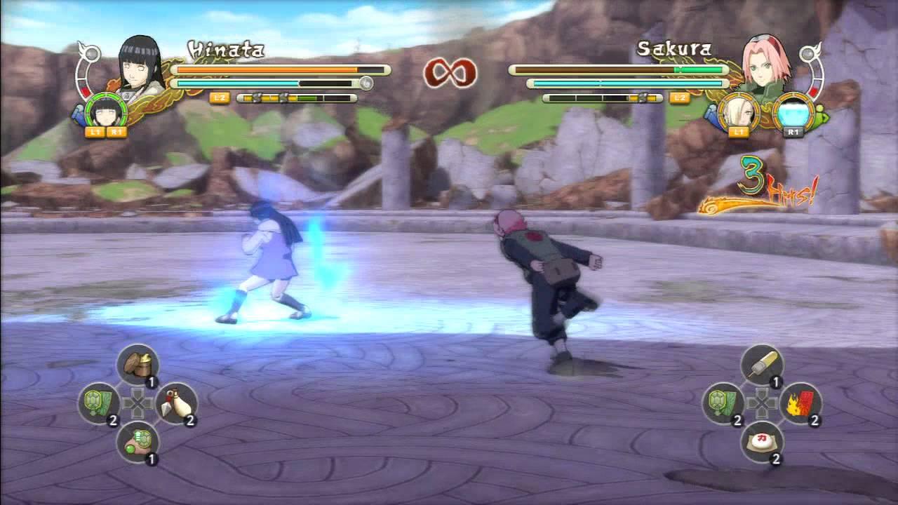 Naruto Ultimate Ninja Storm 3  Hinata VS Sakura, Ino y Tenten