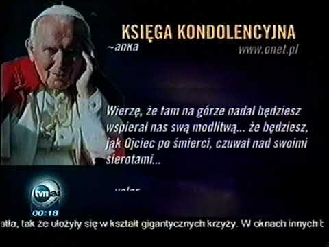 TVN24 - Fragment Księgi Kondolencyjnej (03 kwietnia 2005r.)