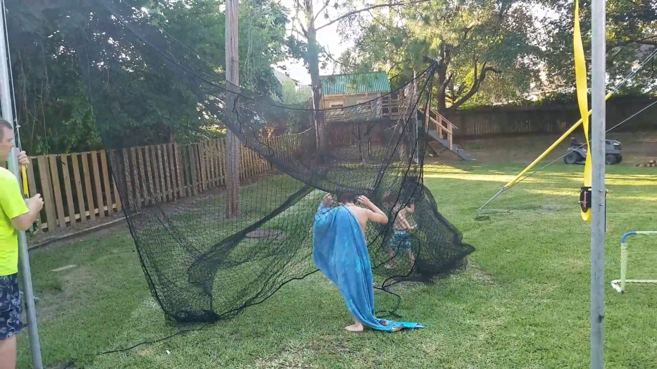 DIY Batting cage - YouTube