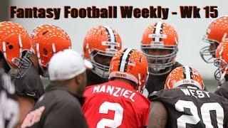 The Johnny Manziel Era Begins! / Cam Newton & The Panthers - Week 15 Fantasy Football News