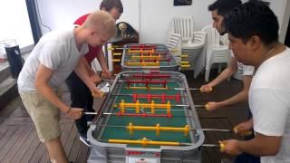Intense Metegol game