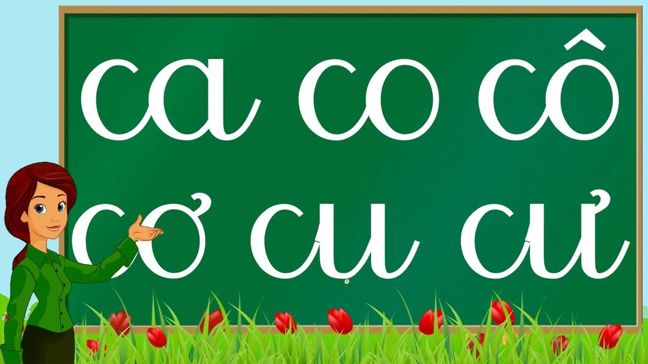 Thanh nấm - Học bảng chữ cái tiếng việt và ghép vần với chữ C