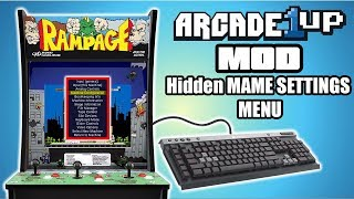 Arcade1Up Mod Access Hidden MAME Settings menu with Keyboard - Soldering Required