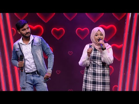 Paadam Namukku Paadam | Romantic performance of Gopalakrishnan & Rahna | Mazhavil Manorama
