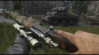 Call of Duty WW2 Sniper Mission Gameplay Campaign