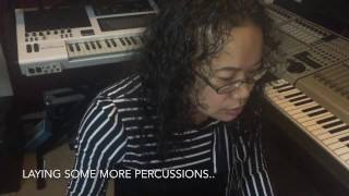 akai mpc studio asian female creating a track