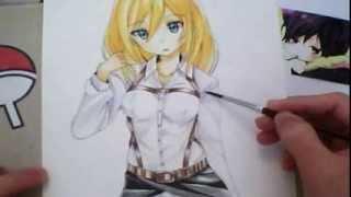 【進撃の巨人】How to draw krista Lenz from Shingeki no kyojin
