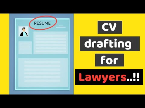 How to draft a CV for lawyers