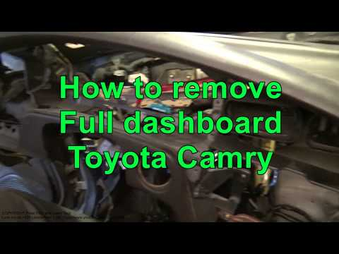 How To Remove Full Dashboard Toyota Camry. Years 1991 To 2010