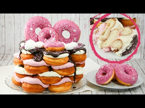 Donut Party Cake I Doughnut Party Torte